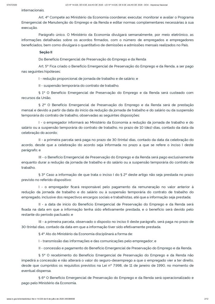 LEI Nº 14.020, DE 6 DE JULHO DE 2020 - LEI Nº 14.020, DE 6 DE JULHO DE 2020 - DOU - Imprensa Nacional_page-0002