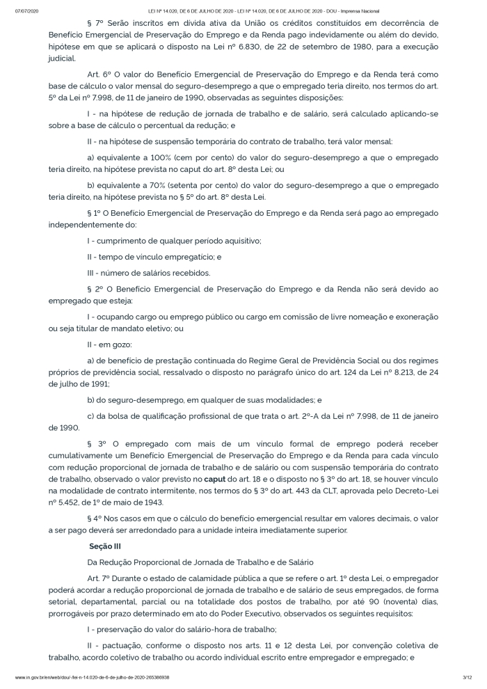LEI Nº 14.020, DE 6 DE JULHO DE 2020 - LEI Nº 14.020, DE 6 DE JULHO DE 2020 - DOU - Imprensa Nacional_page-0003