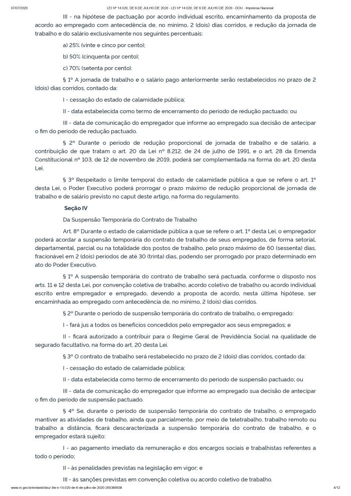 LEI Nº 14.020, DE 6 DE JULHO DE 2020 - LEI Nº 14.020, DE 6 DE JULHO DE 2020 - DOU - Imprensa Nacional_page-0004