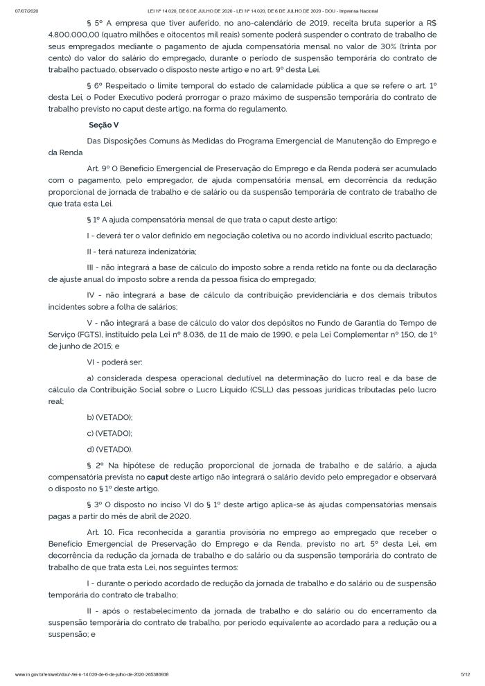 LEI Nº 14.020, DE 6 DE JULHO DE 2020 - LEI Nº 14.020, DE 6 DE JULHO DE 2020 - DOU - Imprensa Nacional_page-0005