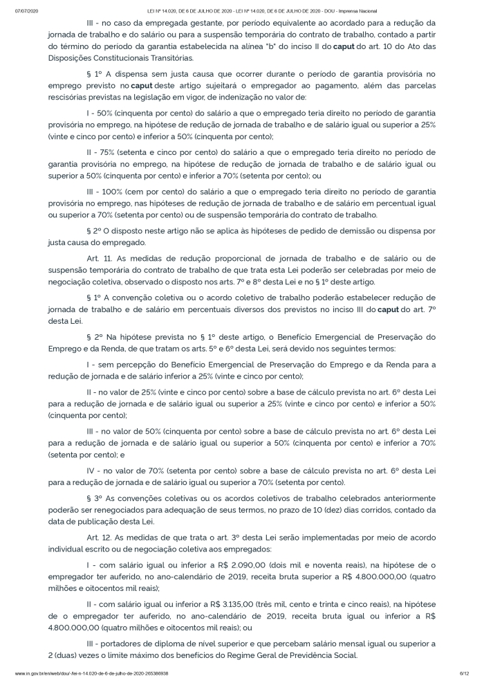 LEI Nº 14.020, DE 6 DE JULHO DE 2020 - LEI Nº 14.020, DE 6 DE JULHO DE 2020 - DOU - Imprensa Nacional_page-0006