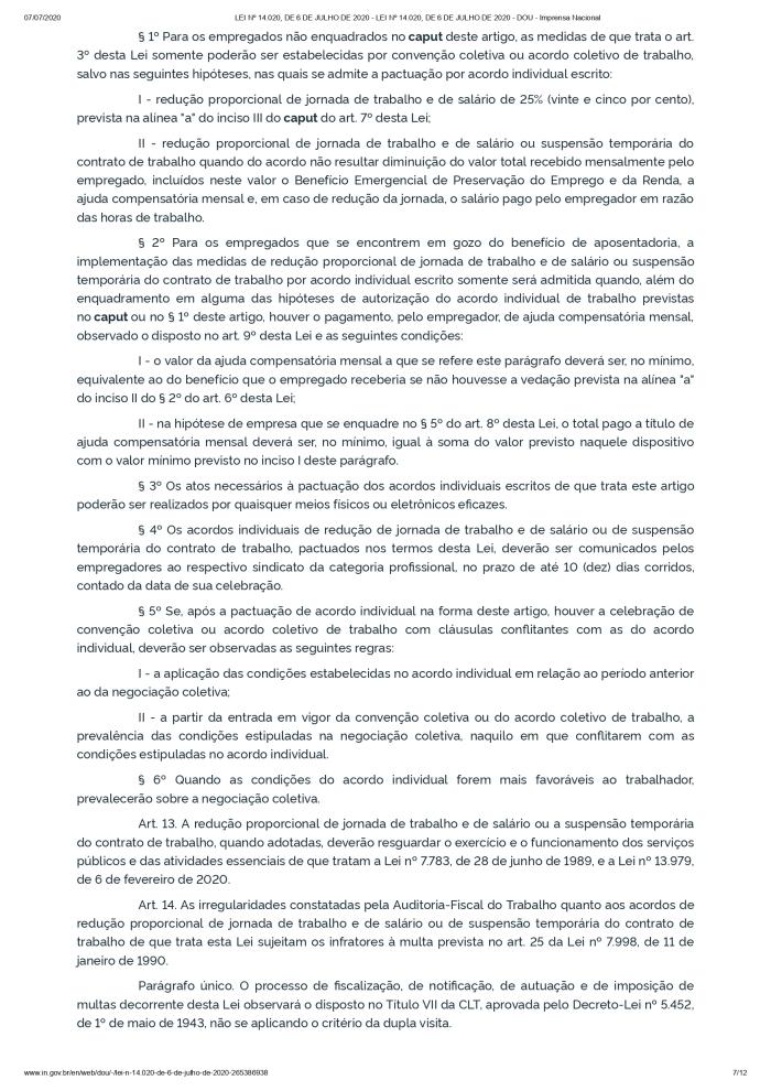 LEI Nº 14.020, DE 6 DE JULHO DE 2020 - LEI Nº 14.020, DE 6 DE JULHO DE 2020 - DOU - Imprensa Nacional_page-0007