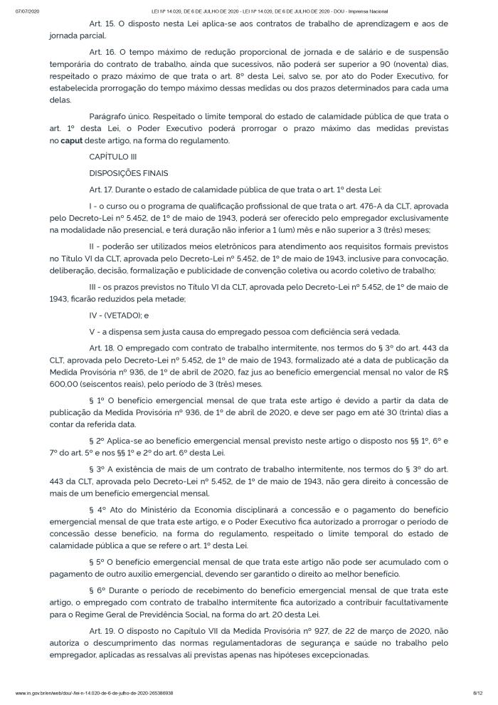 LEI Nº 14.020, DE 6 DE JULHO DE 2020 - LEI Nº 14.020, DE 6 DE JULHO DE 2020 - DOU - Imprensa Nacional_page-0008