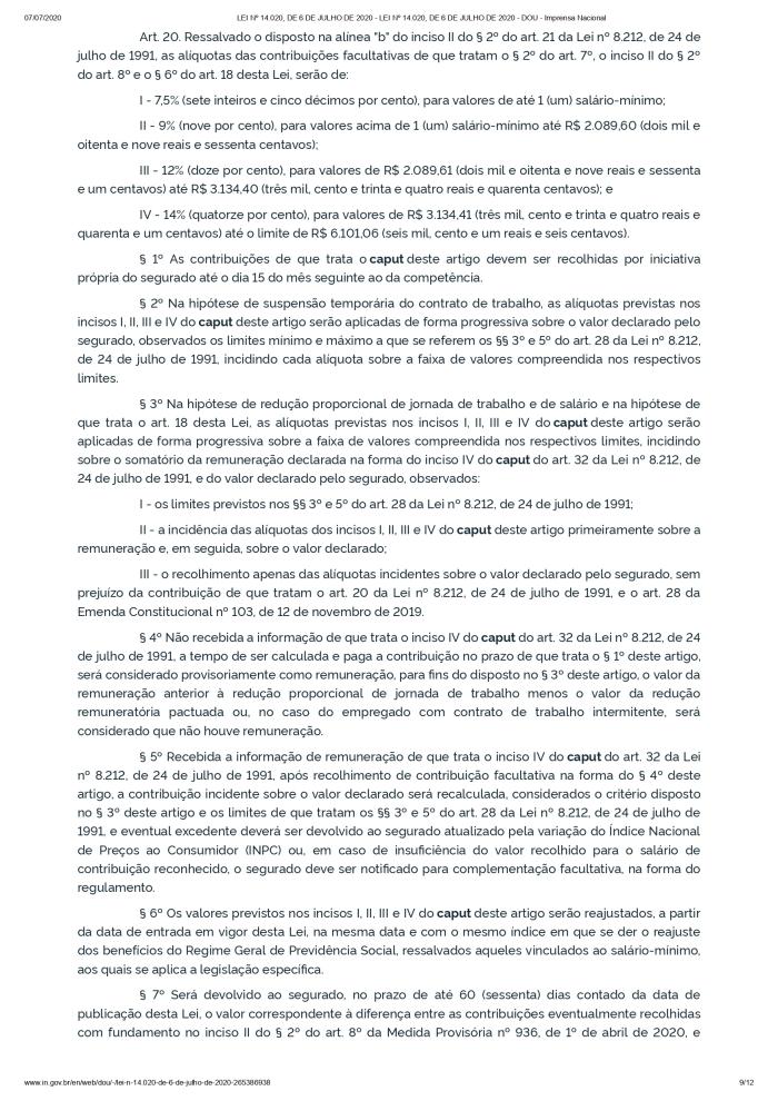 LEI Nº 14.020, DE 6 DE JULHO DE 2020 - LEI Nº 14.020, DE 6 DE JULHO DE 2020 - DOU - Imprensa Nacional_page-0009