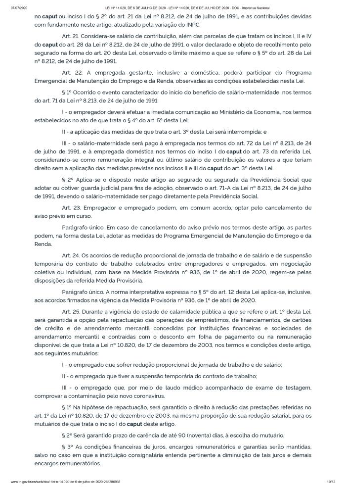 LEI Nº 14.020, DE 6 DE JULHO DE 2020 - LEI Nº 14.020, DE 6 DE JULHO DE 2020 - DOU - Imprensa Nacional_page-0010