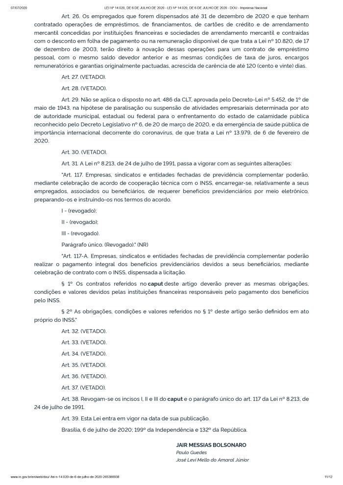 LEI Nº 14.020, DE 6 DE JULHO DE 2020 - LEI Nº 14.020, DE 6 DE JULHO DE 2020 - DOU - Imprensa Nacional_page-0011